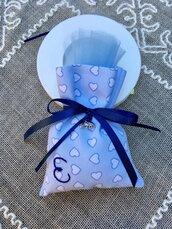Bomboniera personalizzata, sacchetto bomboniera, bomboniera per battesimo