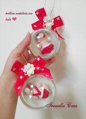 Palline di Natale con bebè all'interno ❤