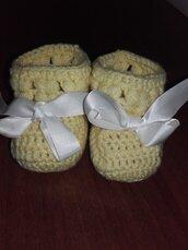 Scarpine neonato/neonata all'uncinetto lana, babbuce, scarponcini, idea regalo nascita