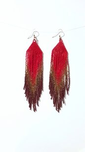 Orecchini pendenti rouge