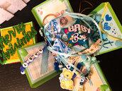 Explosion Box con 10 sorprese all'interno per Futura mamma e Bambino, ricordo gravidanza, scatola sorpresa nascita, scatola Natale futura mamma.