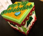 Explosion box futura mamma con all'interno 10 regali, gravidanza, scatola esplosiva nascita scrapbooking, regalo neonato e dolce attesa