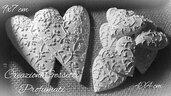 25 gessetti profumati a forma cuore  misura 9x7 cm