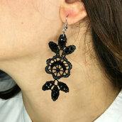 Orecchini pendente in pizzo gotico Ghaliya - Dangle Lace Earrings pendant