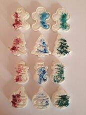 Magneti Natale in pasta di bicarbonato_linea schizzati