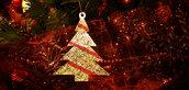 Addobbo natalizio cm7x5 albero di Natale mini