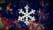 Addobbo natalizio fiocco di neve cm 5x5 per albero di natale