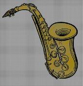 Sax amigurumi handmade