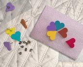 Set 9 Paia orecchini donna cuore colorato vari colori