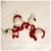 Babbo e mamma Natale decorazione