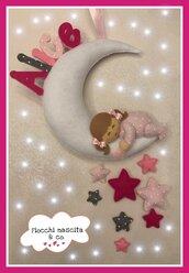 Fiocco nascita bebè sulla luna