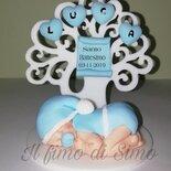 Bomboniera battesimo albero della vita e bimbo neonato
