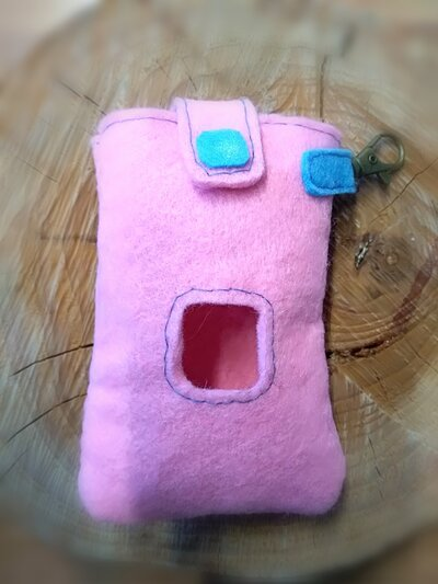 Porta sacchetti cane Mod.1 rosa