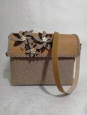 Borsa tracolla handmade feltro misshobby.com moda borse online artigianato bag classica pannolenci modello postino