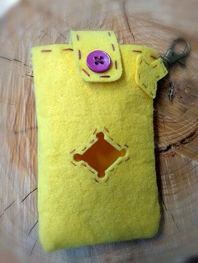 Porta sacchetti cane Mod.1 giallo