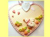Targa cuore con paperotta