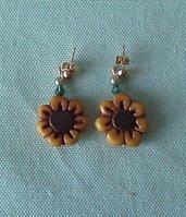 orecchini con girasole