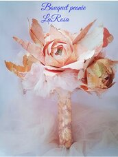 bouquet da sposa con peonie di carta