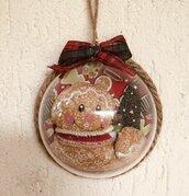 Natale - mezza sfera in plexglass con ginger e albero di Natale