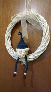 Gnomo di Natale amigurumi per porta