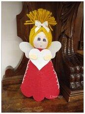 Bambolina angelo feltro
