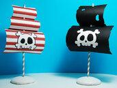 2 cake topper a forma di vela dei pirati