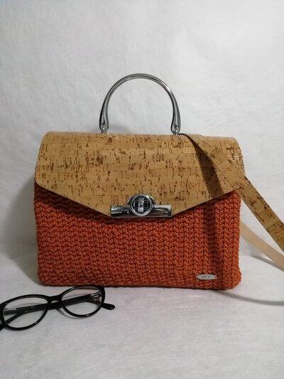 Borsa tracolla marigold bag misshobby.com moda borse online crochet uncinetto effetto sughero