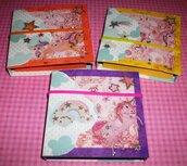 Idea Regalo! Mini Album PortaAppunti - Unicorno^^