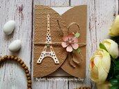 Partecipazione / Invito  tema Parigi, Tour Eiffel.