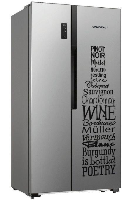 Adesivo bottiglia gigante di vino