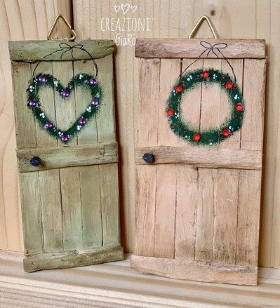 Portine in legno in miniatura