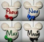 Topolino Minnie pallina Natale idea regalo personalizzata fatto a mano Originale