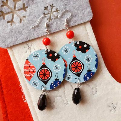 orecchini pendenti fantasia Natale