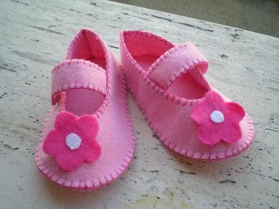 scarpette neonato in feltro personalizzabili