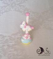 Bomboniera statuina giostra dei cavalli dolce carosello cupcake compleanno bimba