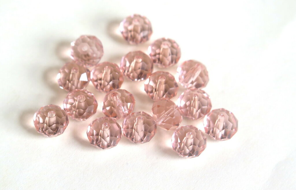 20 Perle sfaccettate CRYSTAL rosa PRL167