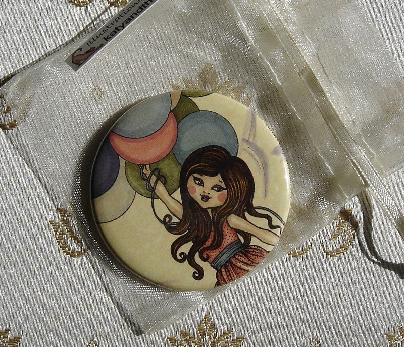Spechietto-The Flight--pocket mirror 2.25 inch (5.6cm)