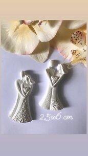 Coppia sposi in gesso ceramico