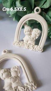 Coppia di sposi in gesso ceramico