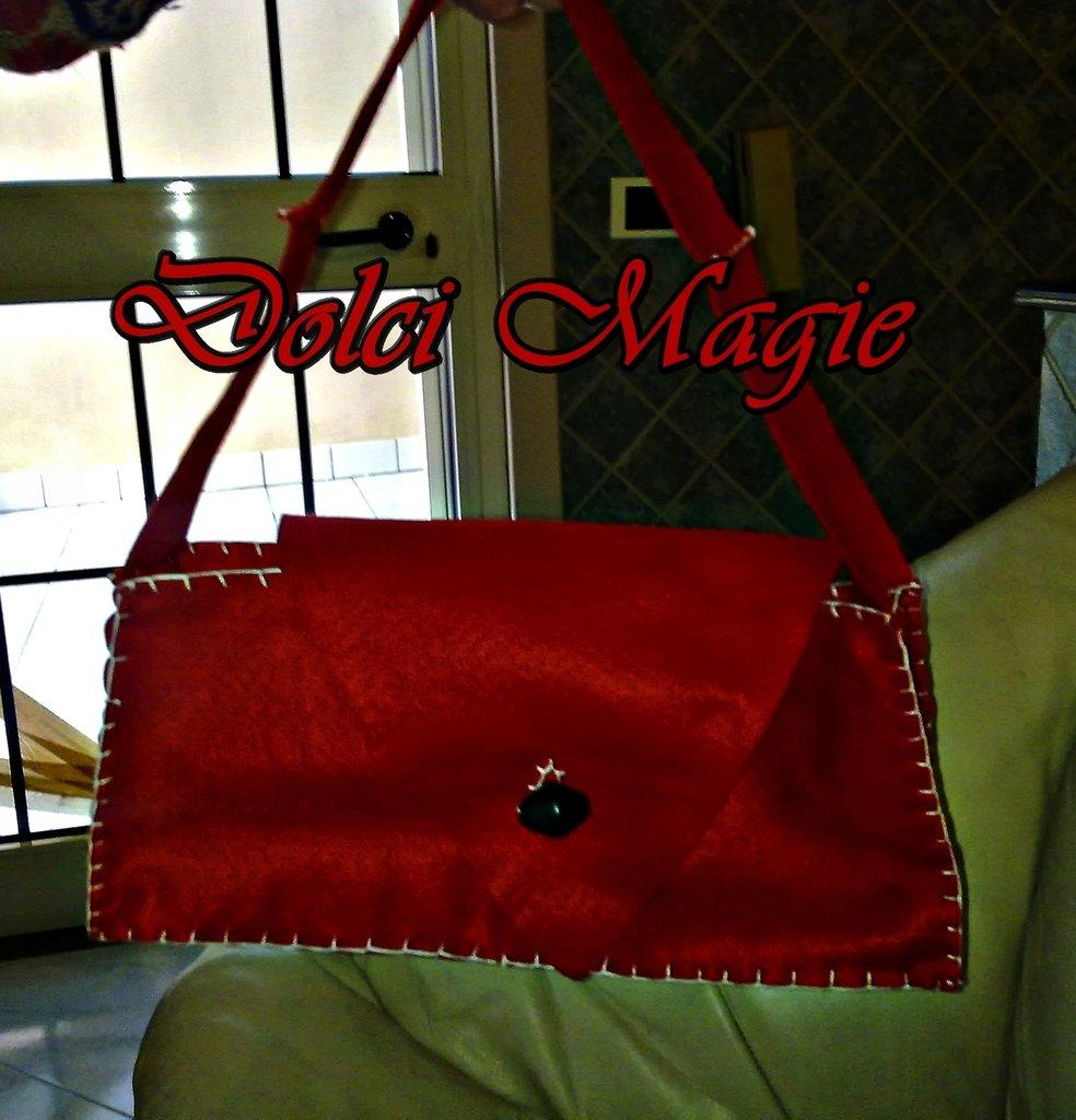 borsa pannolenci rossa