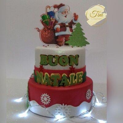 Torta scenografica Natale Torta Finta