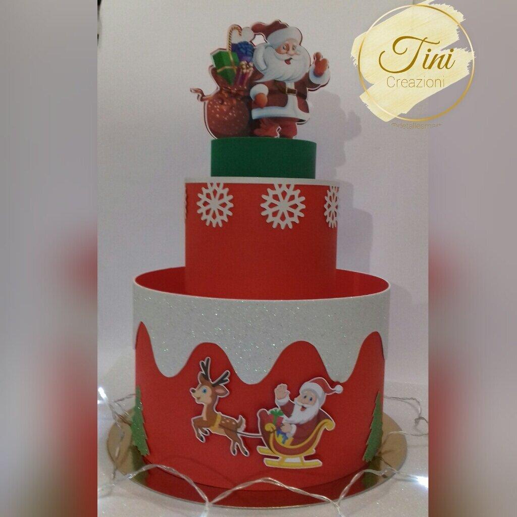 Torta scenografica Torta di caramello Devocazioni di Natale