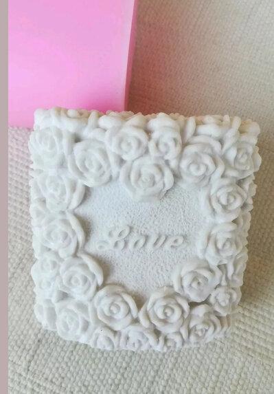 Stampo sapone roselline cm. 8x5x7,5
