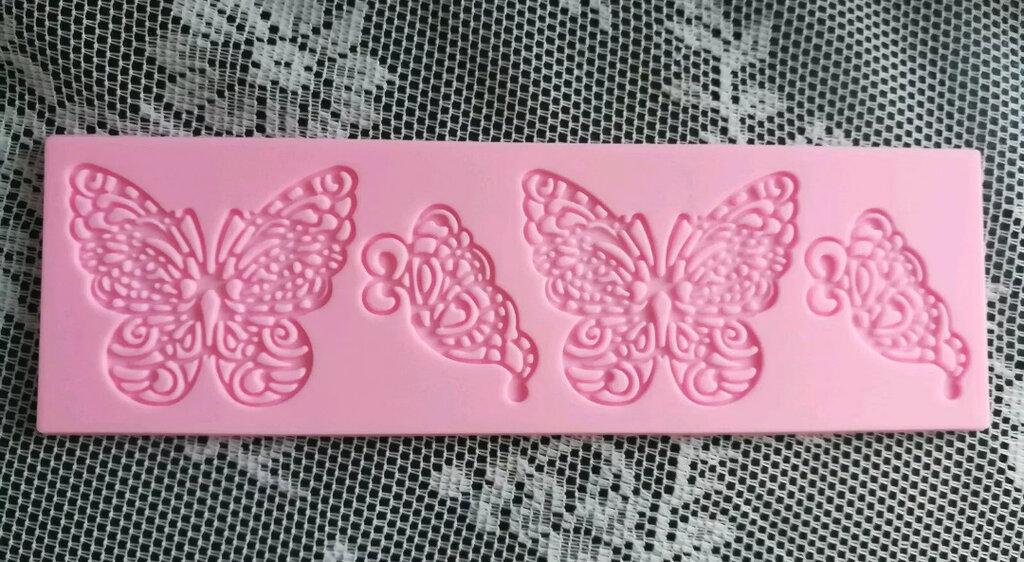 Stampo da incisione farfalle cm.6x4 e cm.4x4