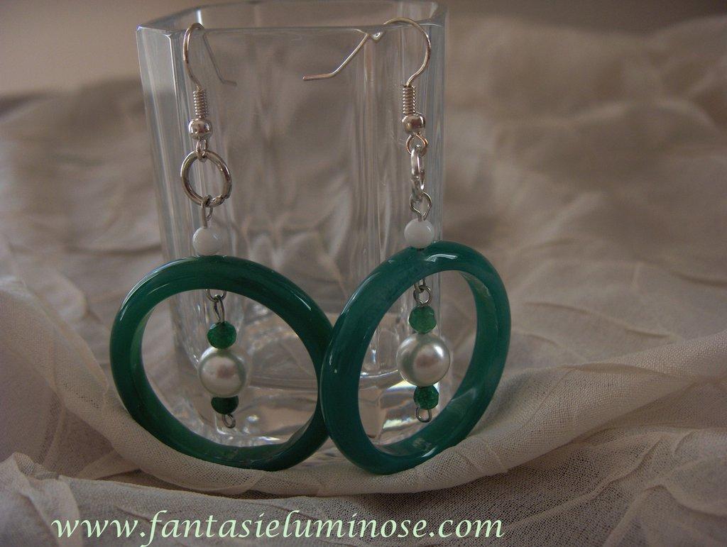 orecchini di agata verde