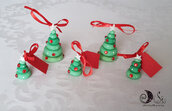 5 alberi natalizi ciondoli addobbo segnaposto personalizzabili