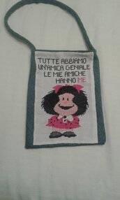 Borsetta punto croce Mafalda