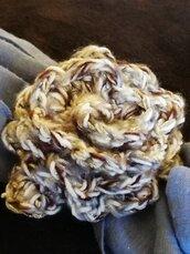 Rosa ferma foulard da 10 cm