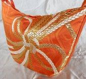 Borsa elegante Spalla Donna Seta100% Oro di Obi/ Kimono Giapponese