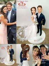 Cake topper sposi personalizzati stile realistico